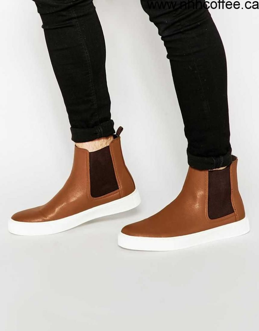 Shoes For Sales - Men's - ASOS Chelsea Boots in Tan With Chunky Sole - Tan