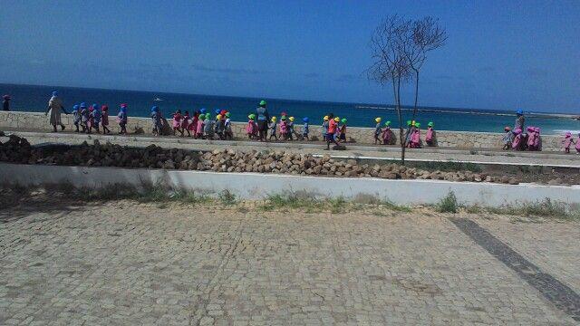 Isola di Maio bambini dell'asilo in gita