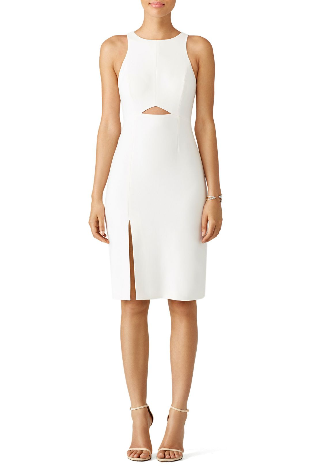 White Cutout Dress  Cerceo Wedding Bridesmaid Look Book  Pinterest