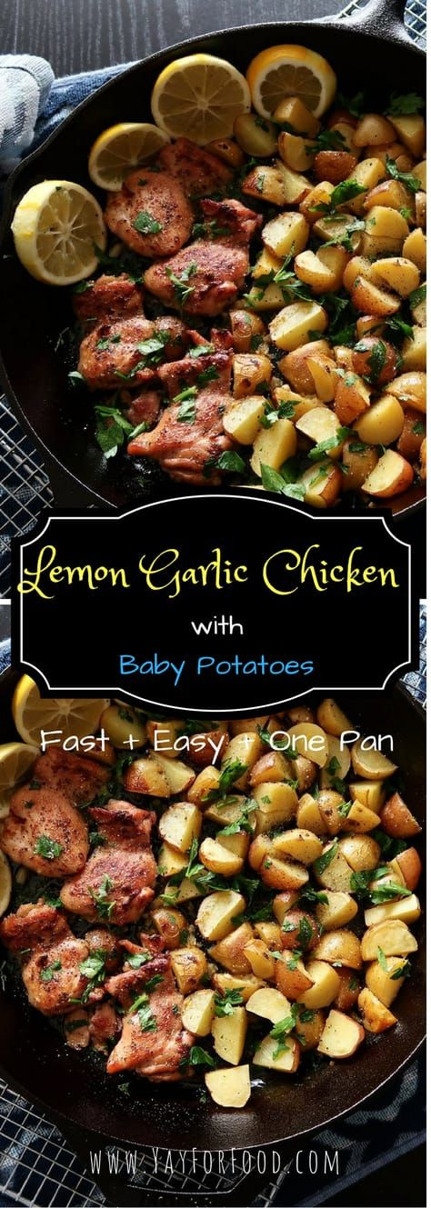 Lemon Garlic Chicken with Baby Potatoes images