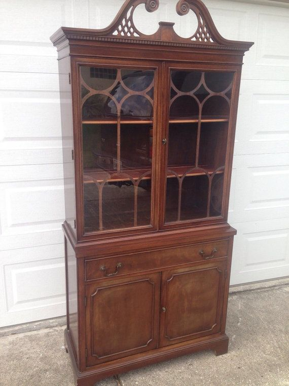 Antique Breakfront China Cabinet Mahogany by ModernVintageHome, $395.00 - Antique Breakfront China Cabinet Mahogany By ModernVintageHome