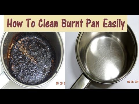 Diy How To Clean Burnt Pan Easily Useful Kitchen Tip Easiest Way