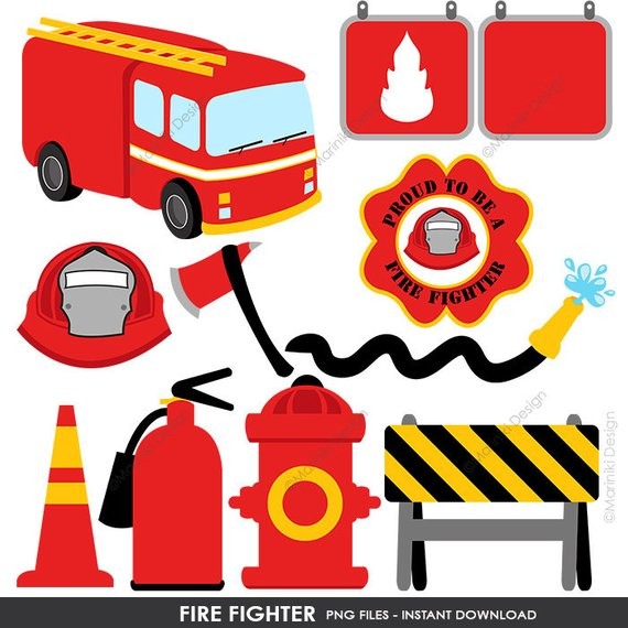 Fire Fighter Clipart Fire Truck Clip Art Rescue Graphics For