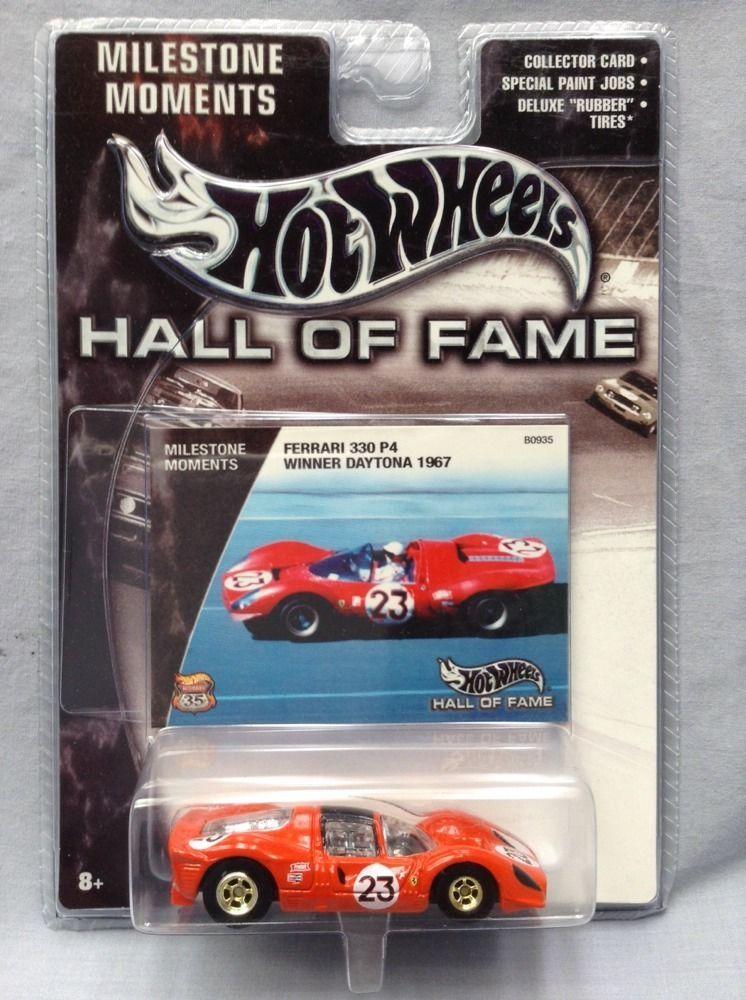 Hot Wheels Ferrari 330 P4 Milestone Moments Hall Of Fame Red No 23 Daytona 1967 Vintage Hot Wheels Hot Wheels Mattel Hot Wheels