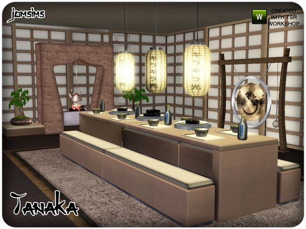 Tanaka Japanese Dining Room By Jomsims Sims 3 Downloads