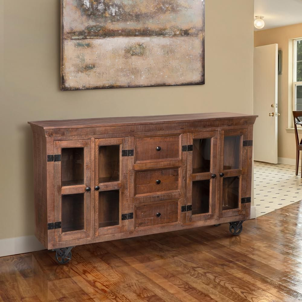 Yosemite Home Decor Warm Natural Storage Cabinet YFUR VA7040