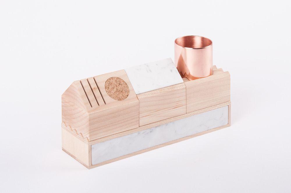 K stationery kit organiseur de bureau maxim scherbakov marble