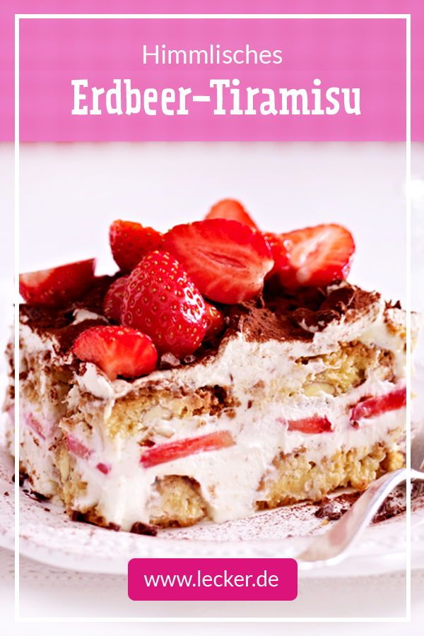Himmlisches Erdbeer-Tiramisu