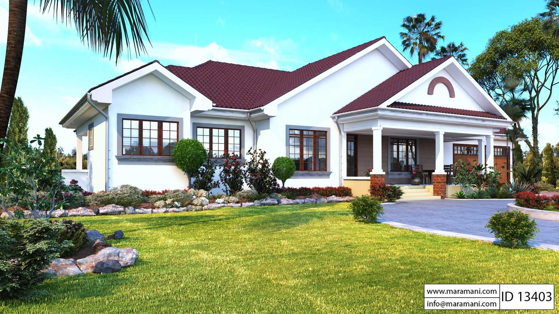 3 Bedroom Bungalow With Garage Id 13403 House Plans By Maramani Craftsman House Plans House Plans House Construction Plan
