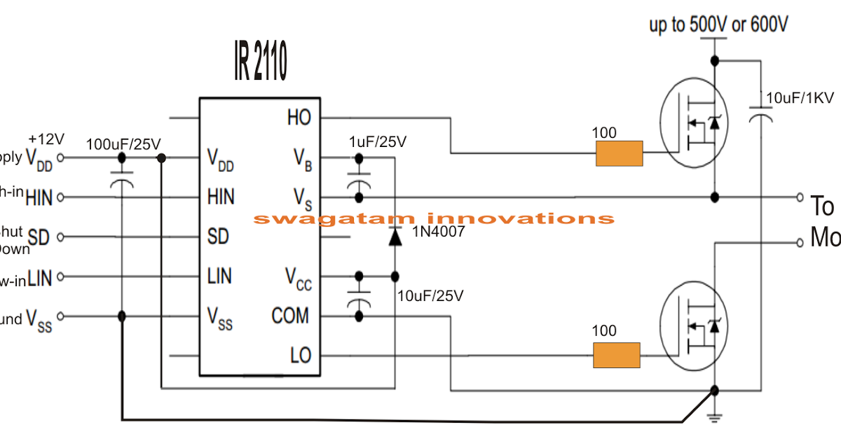 Single Phase Variable Frequency Drive Vfd Circuit Circuit Projects Electronic Engineering Electronics Circuit
