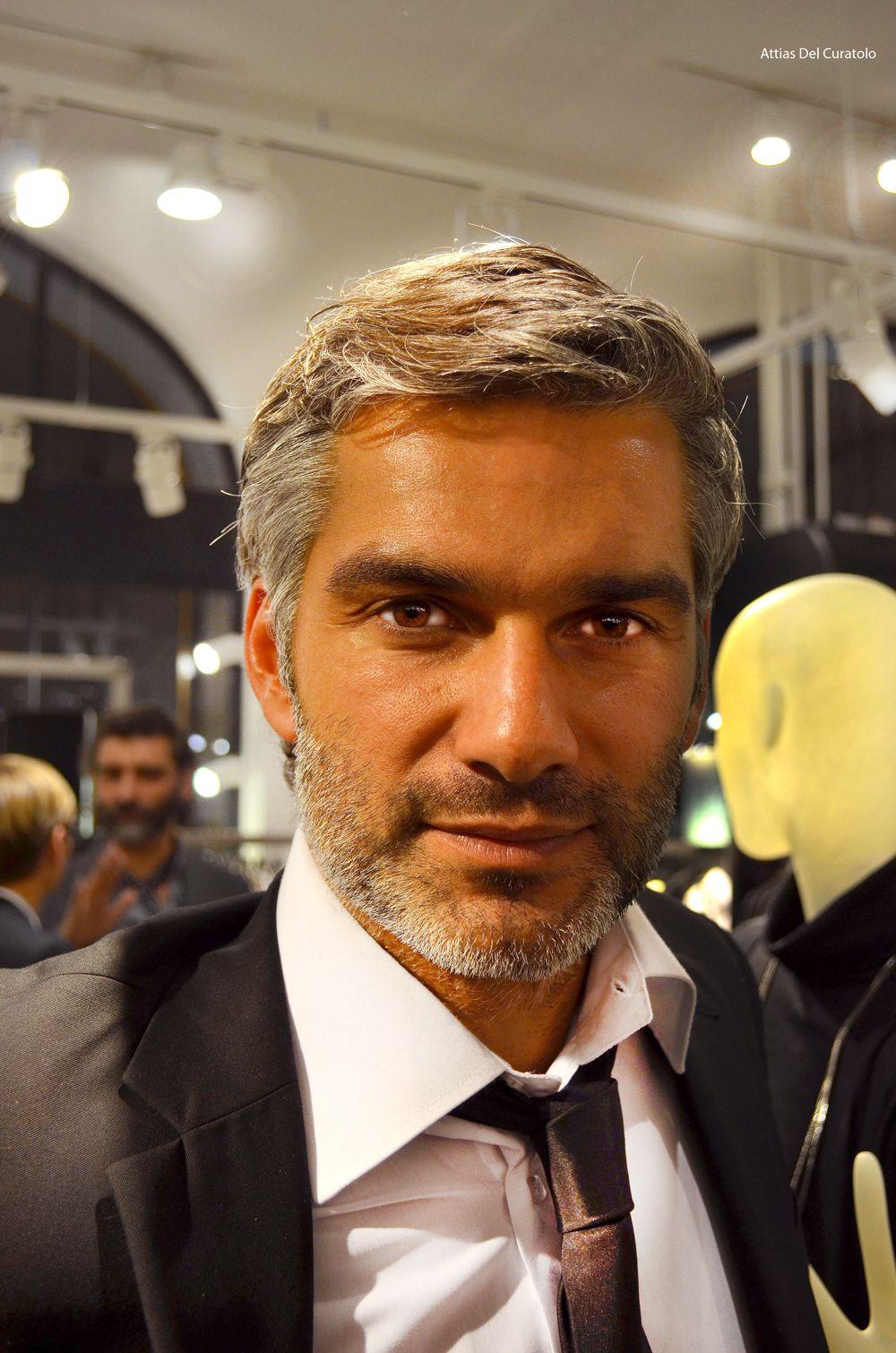 gray hair and beard 50 shades