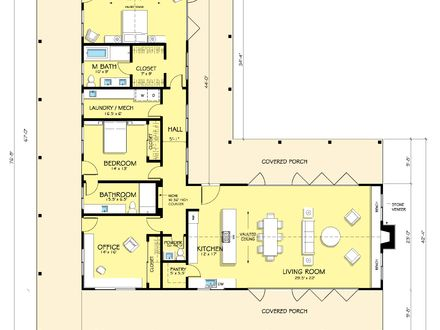 Image Result For L Shaped Bungalow Floor Plans L Shaped House Plans Ranch Style House Plans House Plans Farmhouse