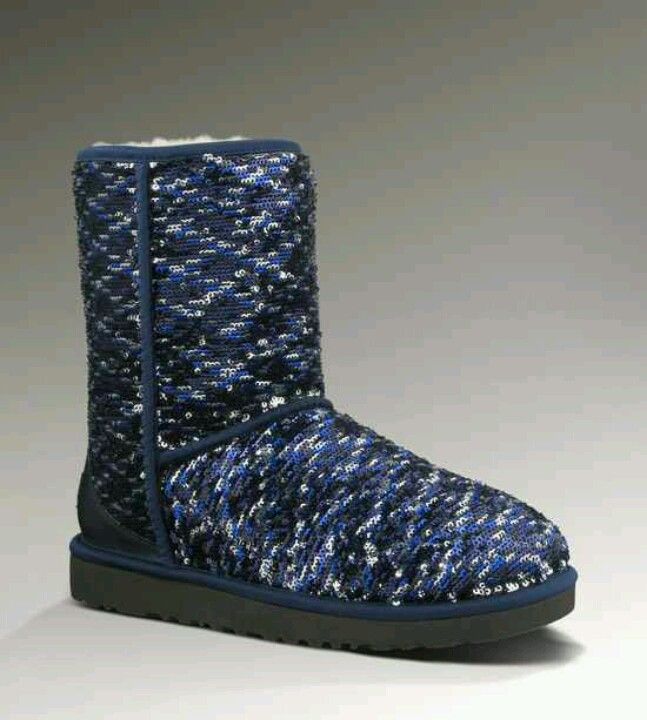 UGG Classic Short Sparkles Blue Boots _just bought these yesterday so in love!