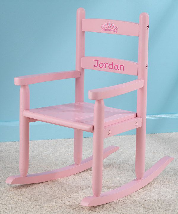 Look At This Pink Personalized Two Slat Rocker On Zulily Today Kids Chairs Baby Rocking Chair Pink Rocking Chair