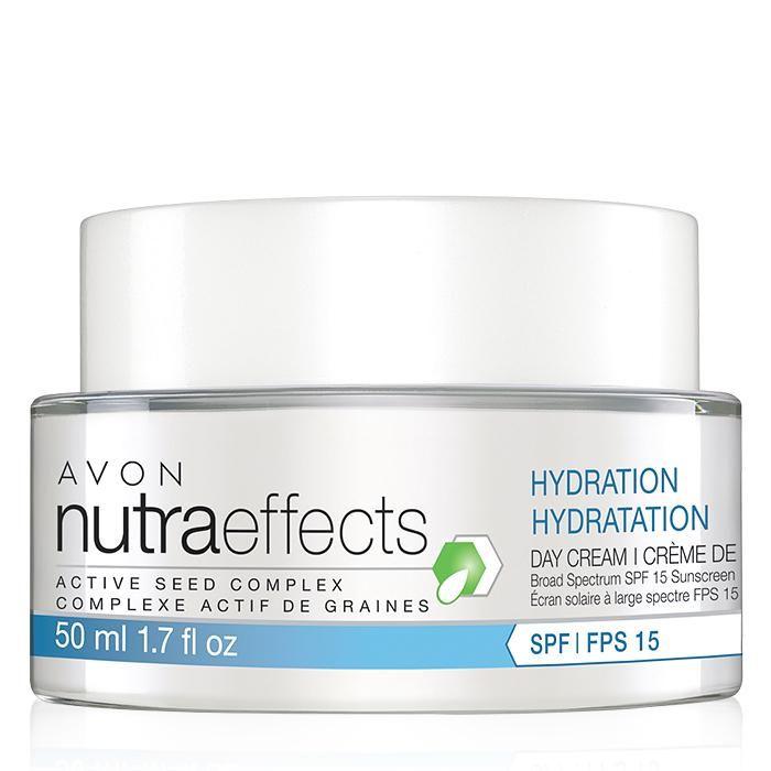 nutraeffects Hydration Day Cream Broad Spectrum SPF 15 | AVON Regular Price $18 Buy online at:https://christinatharpe.avonrepresentative.com/ #avon #avonskincare #avonantiaging #buyavononline #avonhydration #avonnutraeffects