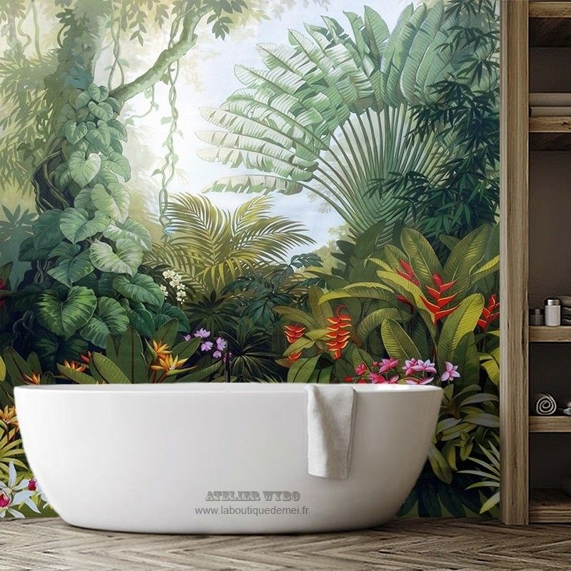 45+ Habillage mur salle de bain inspirations