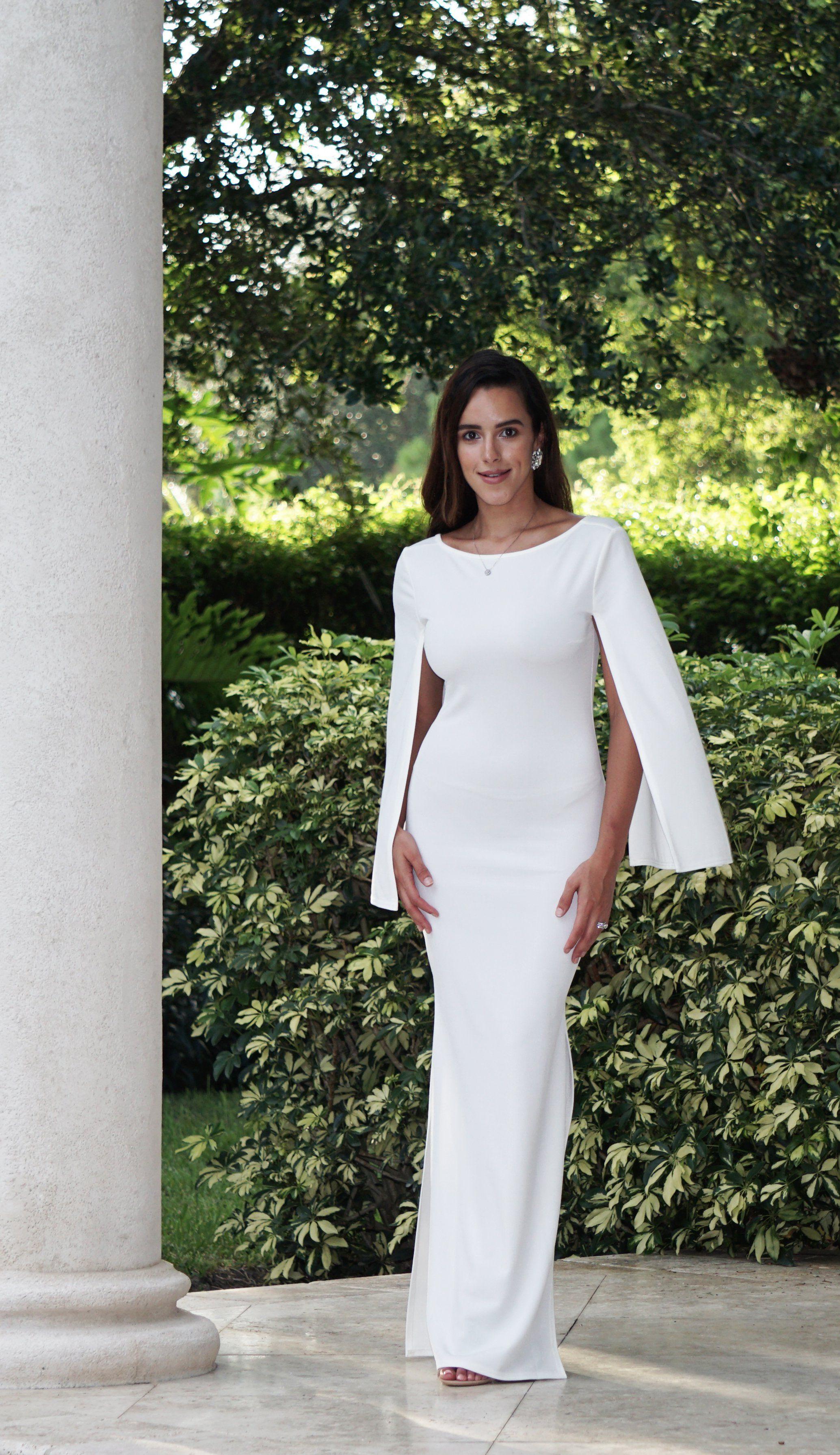 Elegant cape maxi dress ootd clothing jnamor fashion