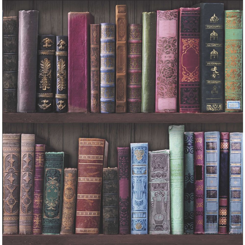 amazing bookcase bookshelf wallpaper from wilkos