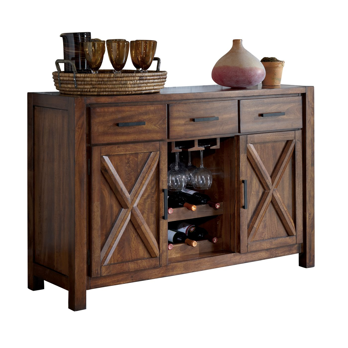 Casual Dining Room Buffet Decorating Ideas: Signature Design By Ashley D644-60 Waurika Server