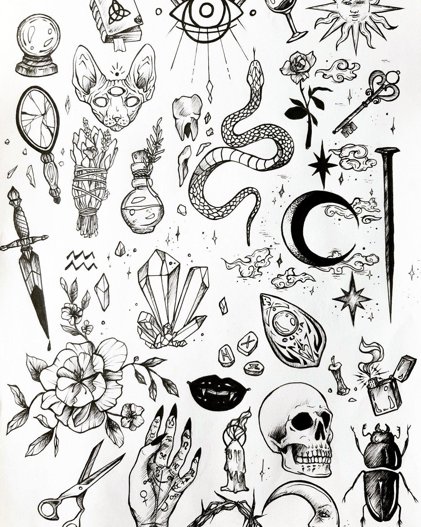 Borneo Tattoos Traditional Tattoo Flash Tattoo Flash Wall Skull Tattoo Flash Mermaid Tattoo Flash Beetlejuic In 2020 Tattoo Flash Sheet Witch Tattoo Tattoo Flash Art