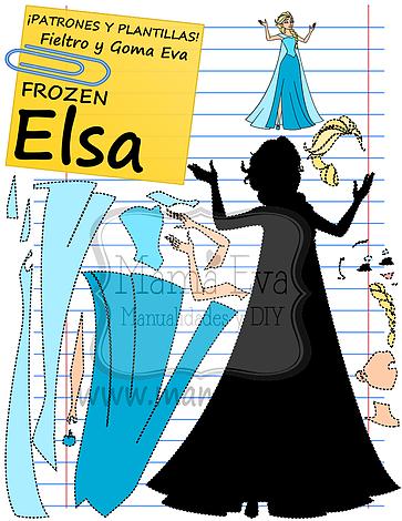 Plantillas-Princesas-Disney-Frozen