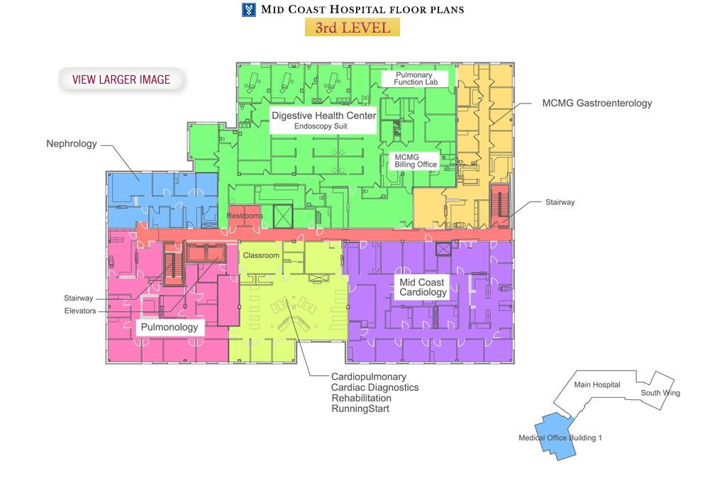 Mid Coast Hospital Floor Plans Level 3 Hospital floor plan