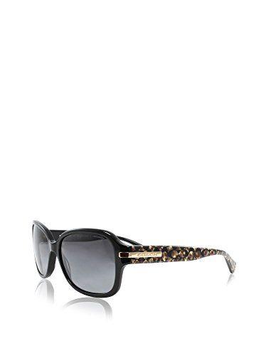 373fd4ae03d ... clearance coach womens amber sunglasses hc8105 black grey acetate  polarized 58mm ca7fe 3489a