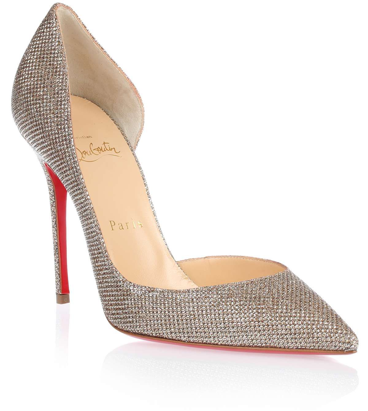half off 20b95 b6338 Iriza 100 gold glitter pump Christian Louboutin - Savannah's ...