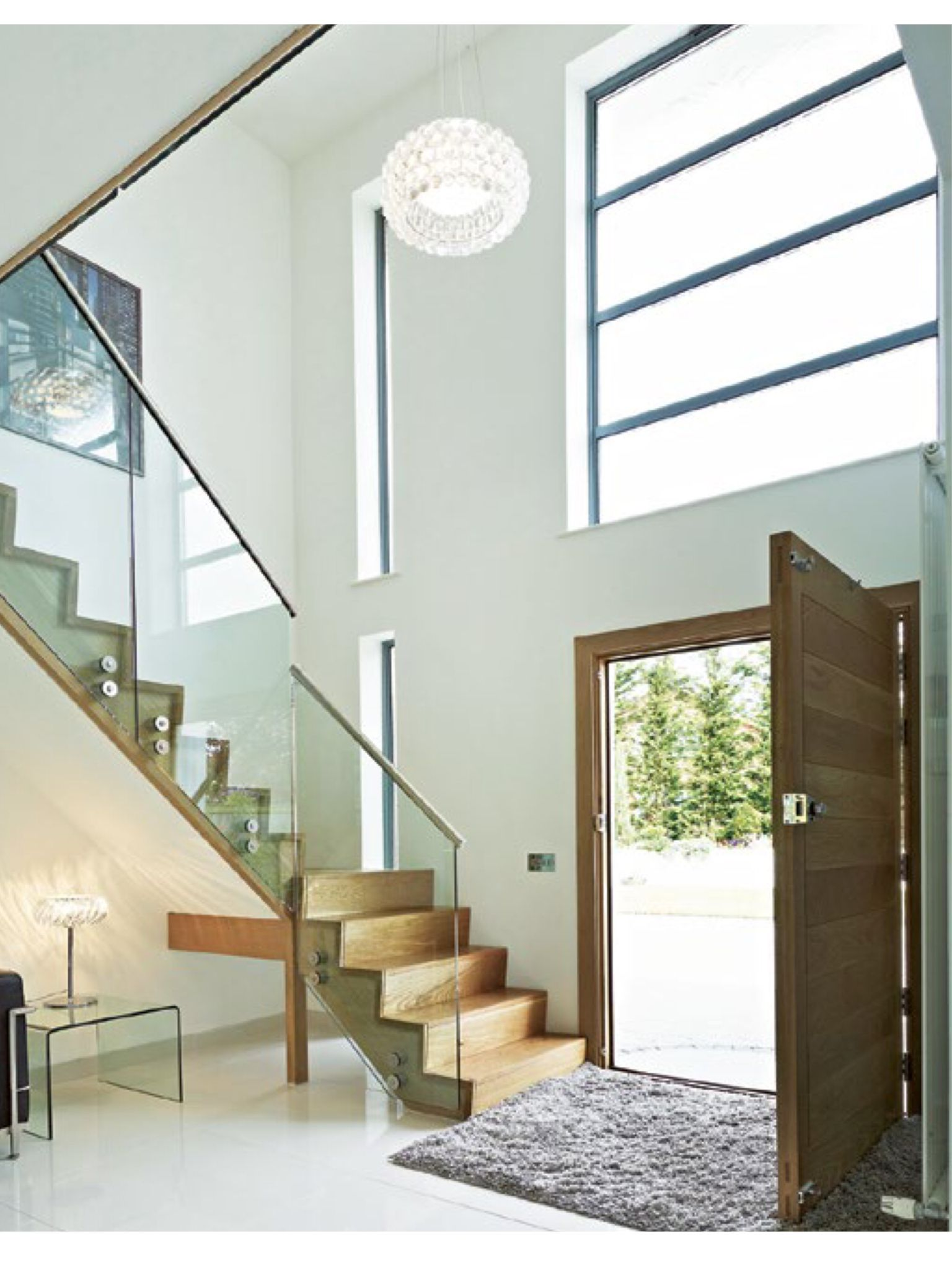 Double height, light entrance | Dream Home | Pinterest | Lights ...
