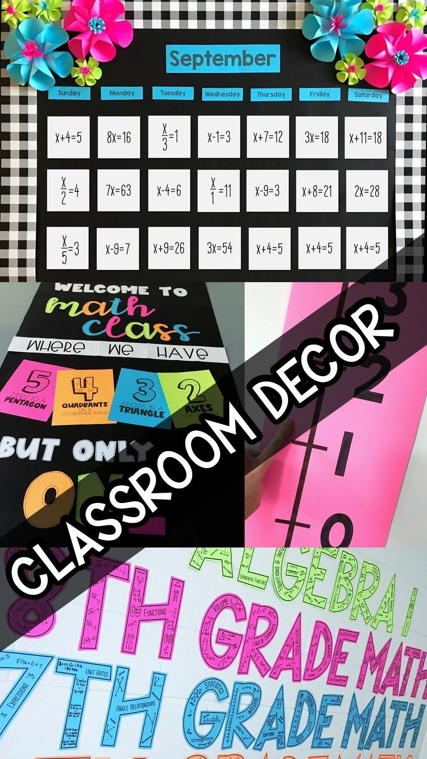 Bulletin boards, math calendars, door decorations and more