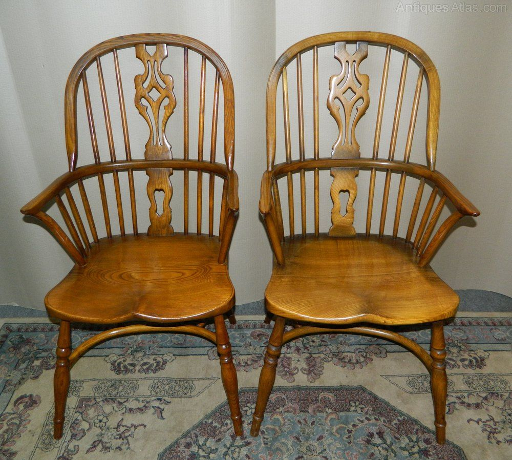 Pair Of Windsor Chairs Chair Antique Wooden Chairs Antiques