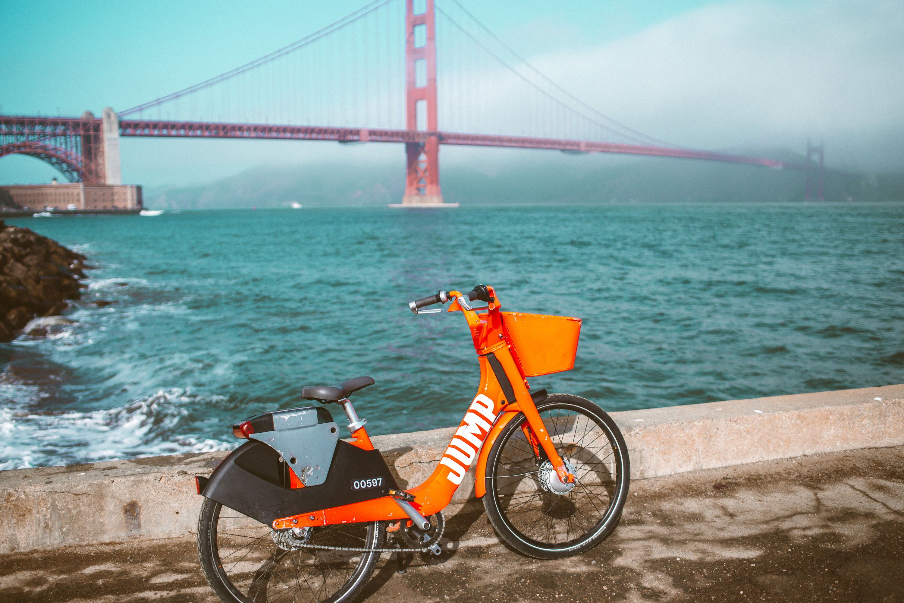 Bike Ride Along Crissy Field with Uber JUMP Bikes | Whimsy