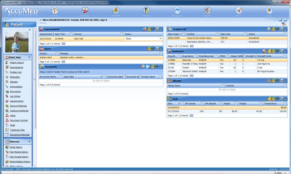 Accumed ehr electronic medical records software 4pc pinterest