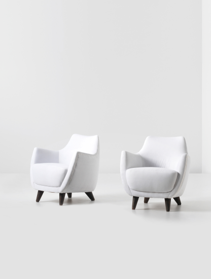 PHILLIPS  UK050113 Gio Ponti Pair of armchairs designed for the First Class
