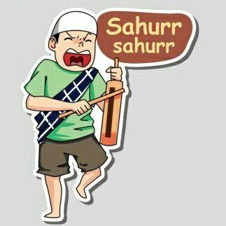Sahur Ramadhan Dengan Gambar Lucu Foto Lucu Kartun
