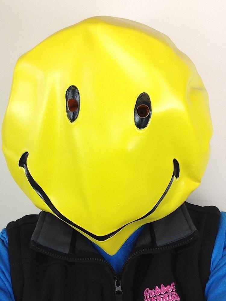Smiley Face Emoji Mask Happy Rave Dancer Fancy Dance Music Festival Party
