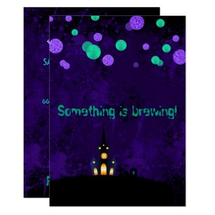 Something Is Brewing Halloween Party Invitation Rsvp Gifts Card