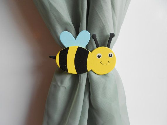 Bumble Bee Curtain Tie Backs