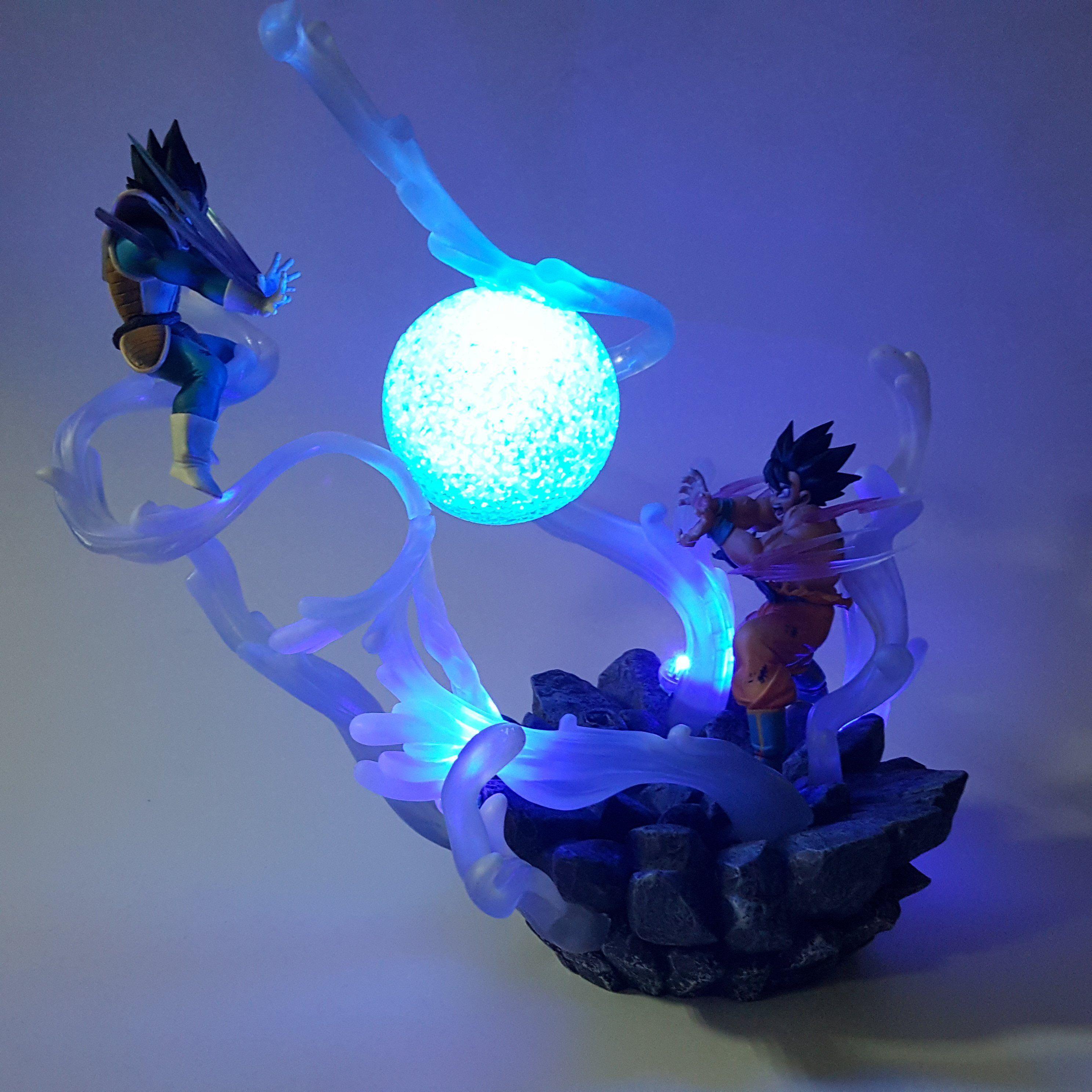 Dragon Ball Son Goku 3D LED Crystal Decor Night Light Table Desk Lamp Best Gif