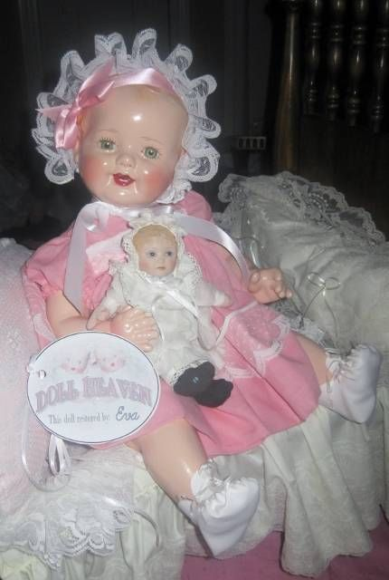 DARLING  20 INCH   VINTAGE 1930s EFFANBEE LOVUMS  COMPOSITION DOLL