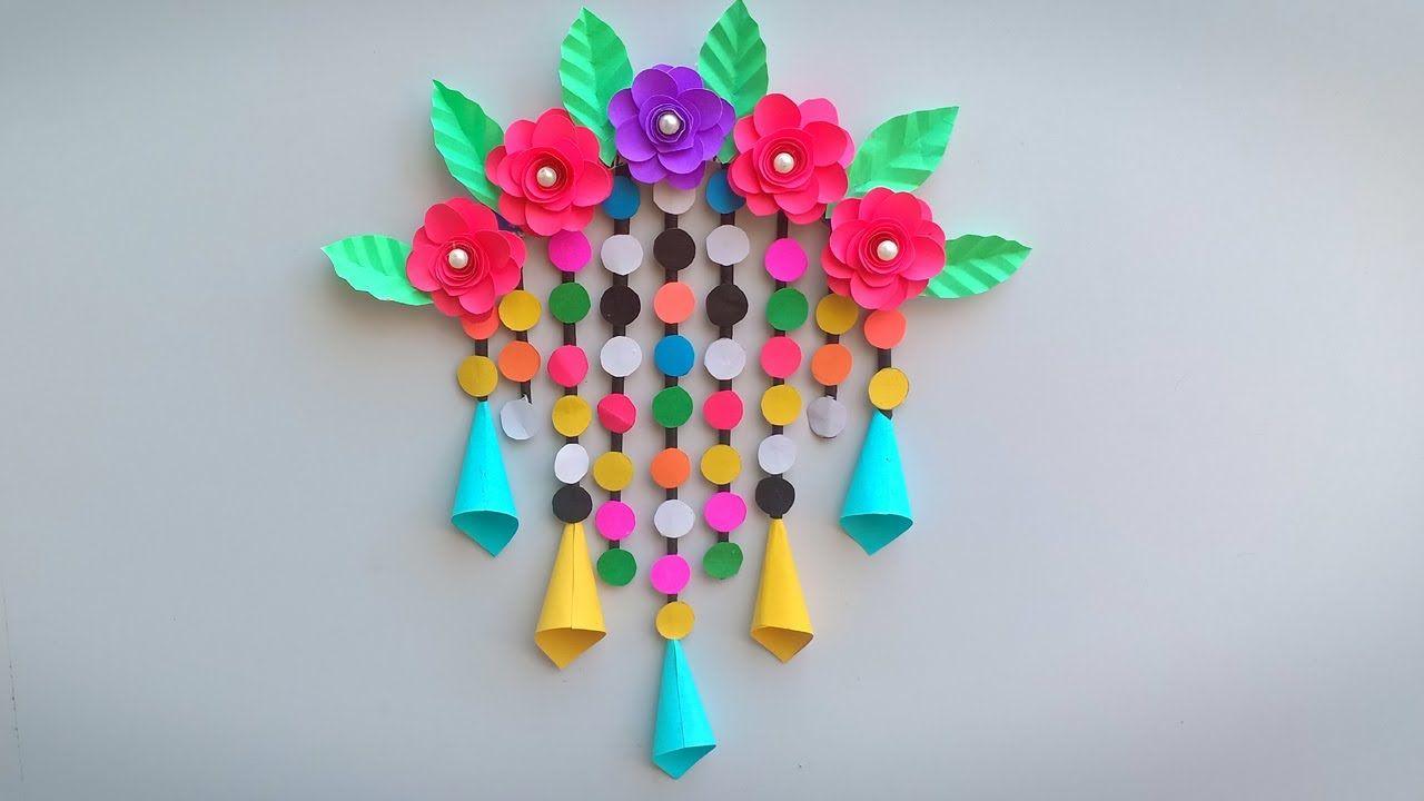Diy Rose Paper Flower Wall Hanging Wall Decoration Ideas Diy