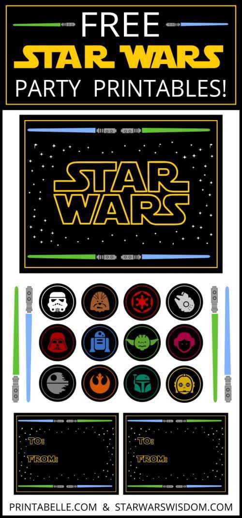 Star Wars Free Printable Zum Ausdrucken   Für Jede Star Wars  Kindergeburtstags Party Ein Muss *