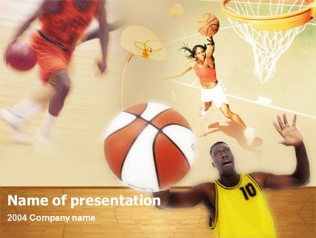 Fine basketball PowerPoint template help with presentations on