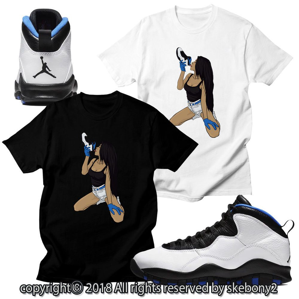 180b4c282bb535 CUSTOM T SHIRT MATCHING STYLE OF Air Jordan 10 Orlando JD 10-5-8  fashion   clothing  shoes  accessories  mensclothing  shirts (ebay link)