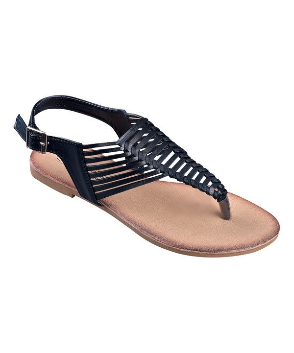a0b4ab04eb80e Look at this STEVEN ELLA INC Black Cage-Front Sandal on  zulily today!
