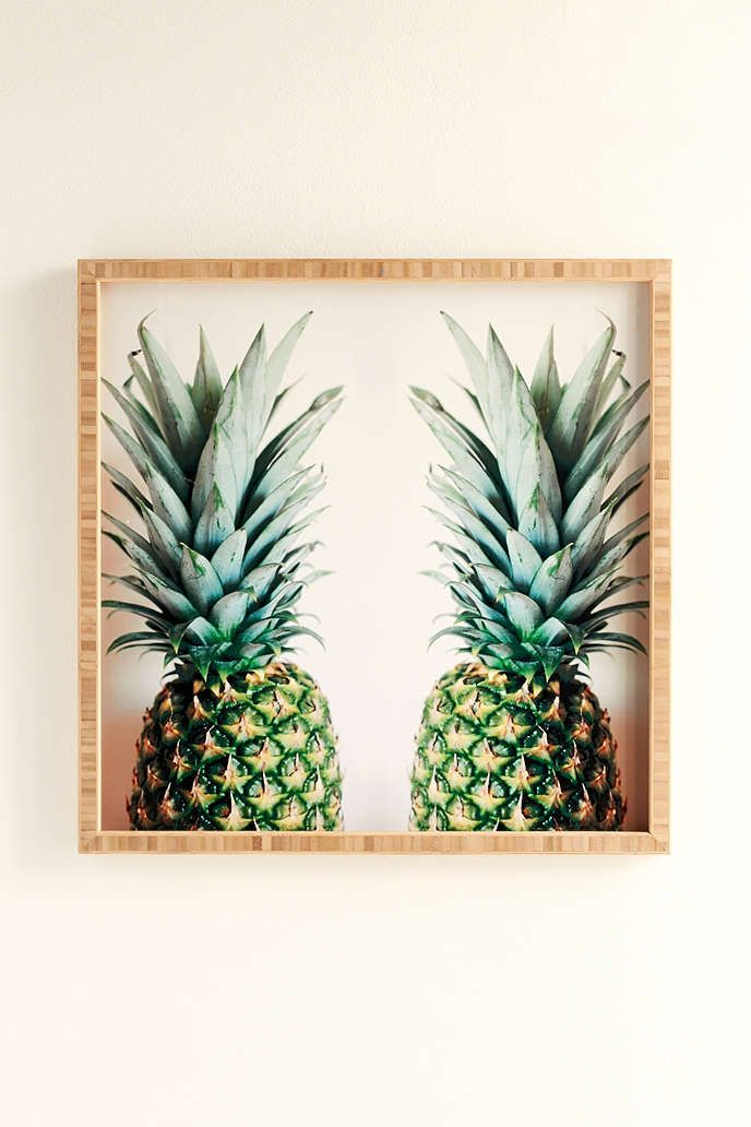Urban Outfitters Wall Art chelsea victoria for deny how about those pineapples framed wall