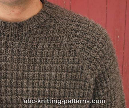 ABC Knitting Patterns - Men\'s Raglan Woodsman Sweater | strik herre ...