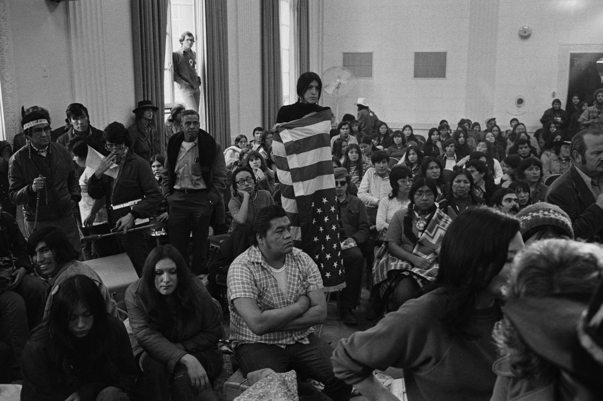 Native American Protest In Washington Native american