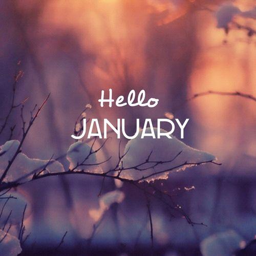Welcome January Happy New Year Hello January Hello