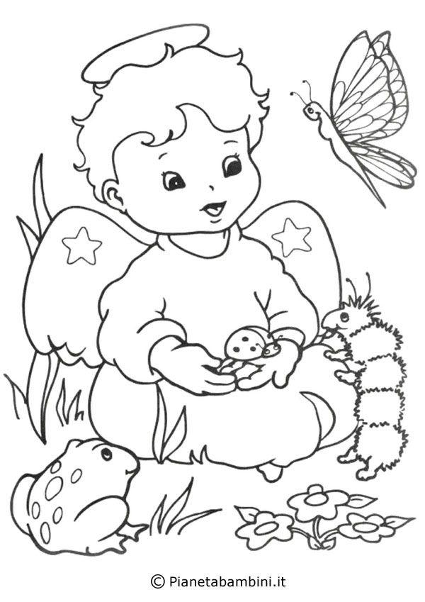 Ecco a voi ben 18 disegni di angeli da stampare e colorare for Immagini da colorare angeli